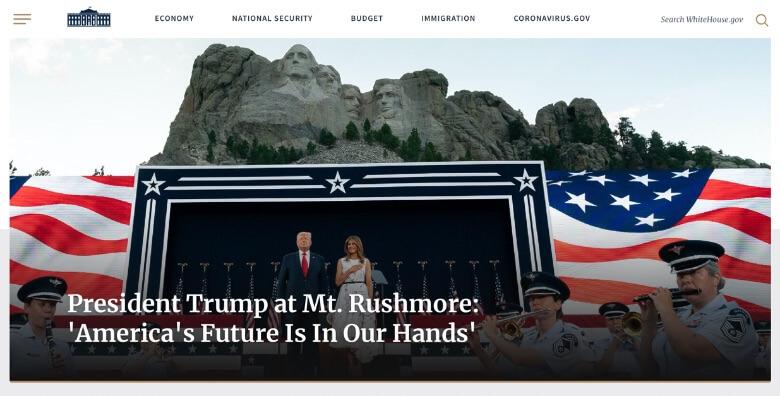 WordPressの活用例 米国ホワイトハウス