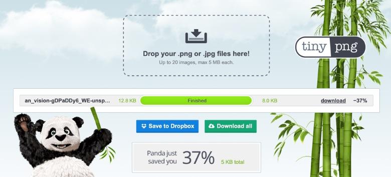 TinyPNGで画像圧縮