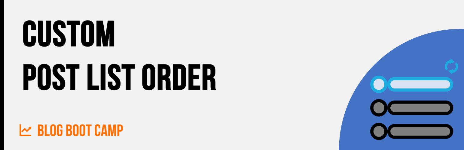 Custom Post List Order